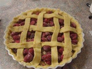 Hindbærtærte den bedste 4