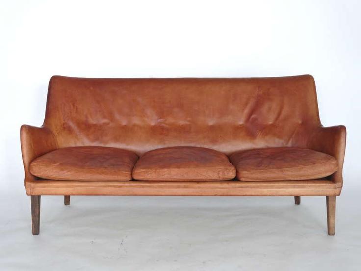 Leather Sofa by Arne Vodder