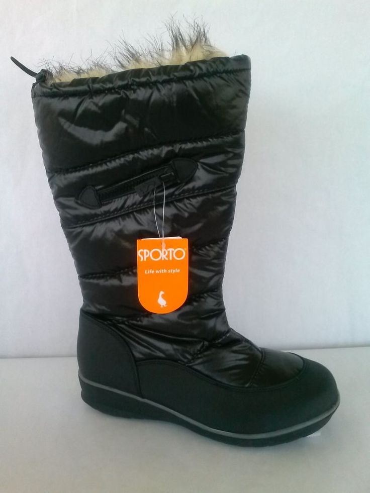 Sporto Whitney Black Water Proof Faux Fur Snow Winter