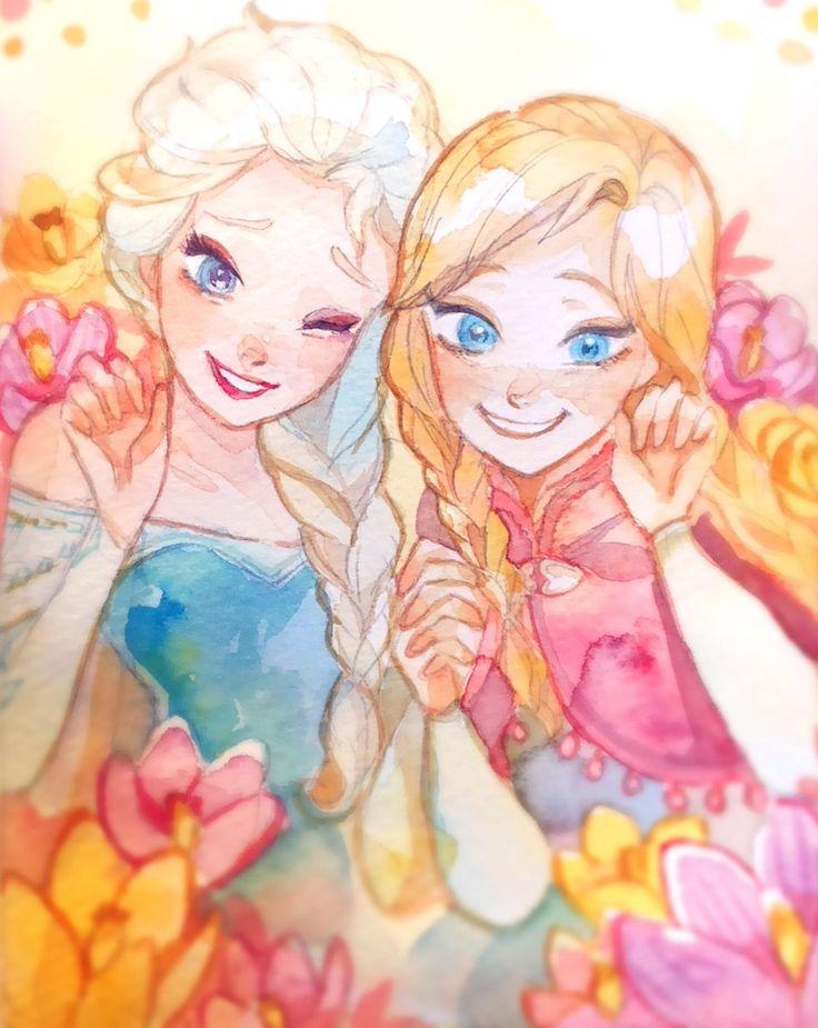 Elsa and rapunzel