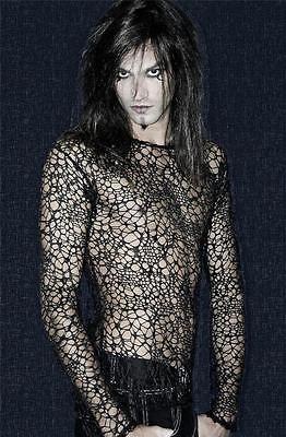 Мужская неравномерный сетки рыболовная сеть Топ T рубашка гот панк паутины Spider Web альтернатива