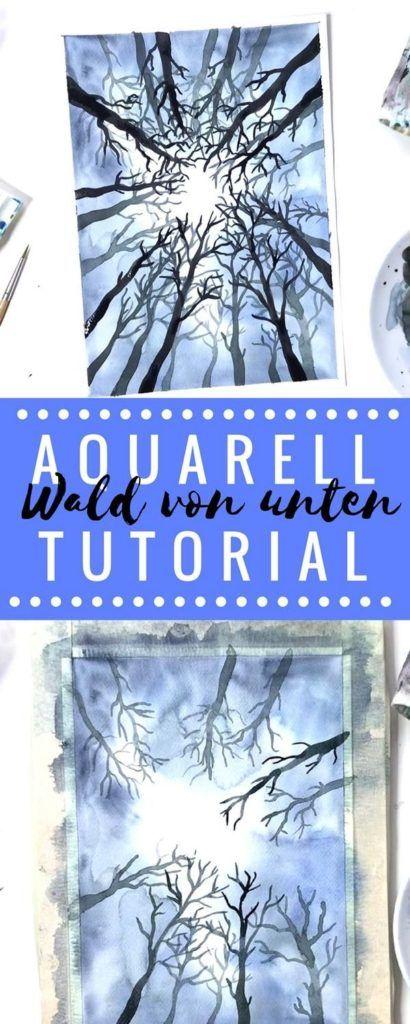 Aquarell Wald Vollständiges Tutorial