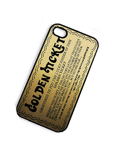 If I had a an iPhone,.iPhone Case Gold Ticket iPhone Hard Case / by TheCuriousCaseLLC, $20.00