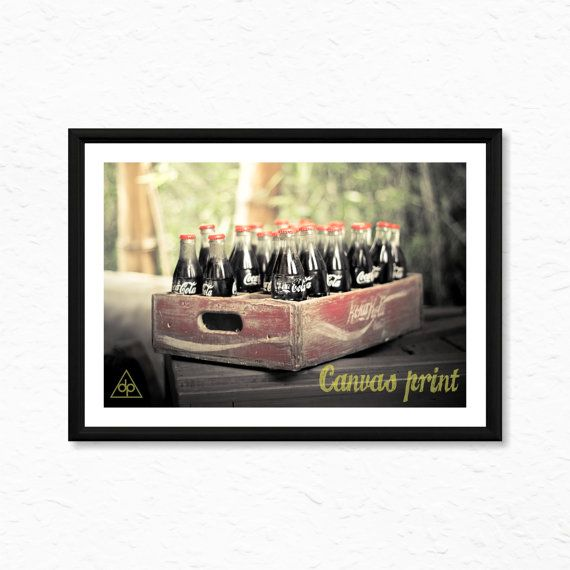 Vintage Coca Cola Box  Canvas Print Ready To Frame by decalplaza, $17.99