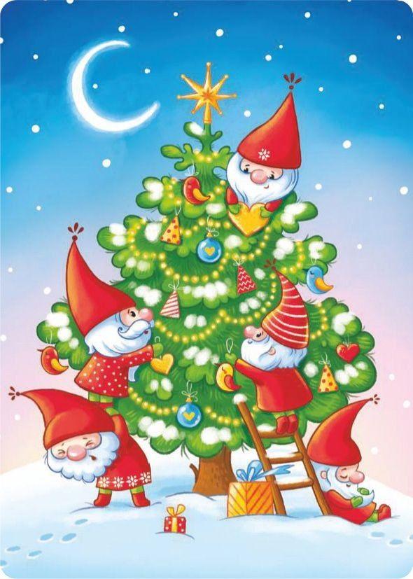 Открытки картинки новогодние елки