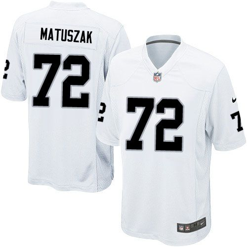 Men Nike Oakland Raiders #72 John Matuszak Limited White NFL Jersey Sale