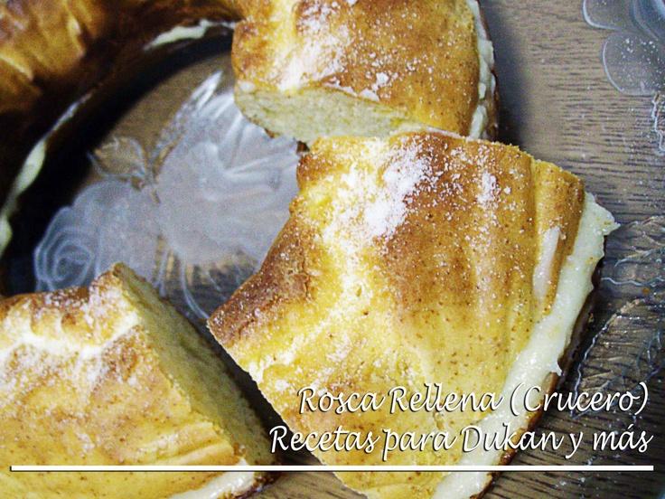 Rosca rellena de crema pastelera / Rosca de Reyes (Crucero) Suscríbete a mi canal, es gratis http://www.youtube.com/subscription_center?add_user=mmb2412  Maria Martinez: Recetas para Dukan y más