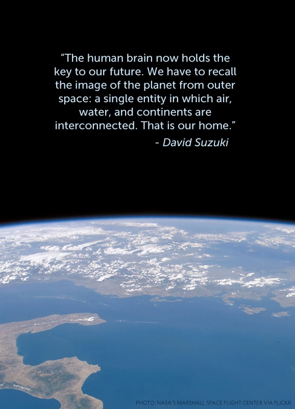 Some perspective from David Suzuki.