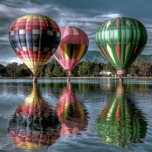 Hot air balloons!Photos, Buckets Lists, Hotair, Colors, Beautiful, Reflections, Places, Hot Air Balloons, Photography
