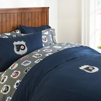 i love the philadelphia flyers duvet cover pillowcase on pbteencom