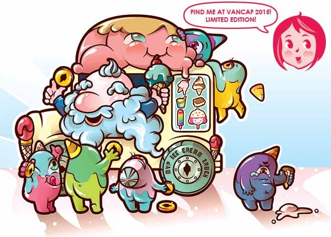 I Scream for Ice Cream LIMITED EDITION print @ VanCAF 2015 // Ice Cream,  Ice Cream Truck, Party Crashers