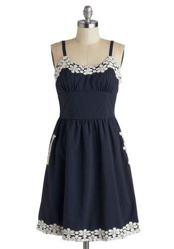 applique trimmed dress