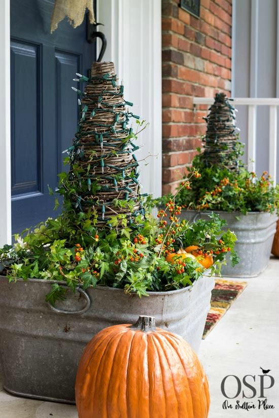 Fall Porch Decor Ideas | from On Sutton Place