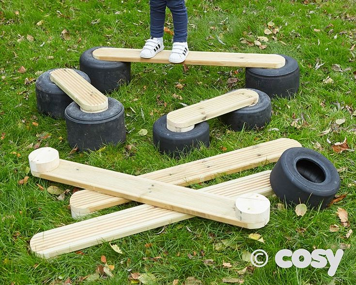TYRE WALKING PLANKS (6PK) - New - Early Years - Cosy Direct
