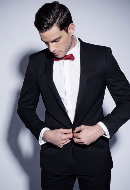 25  cute Black suit red tie ideas on Pinterest   Groom attire ...