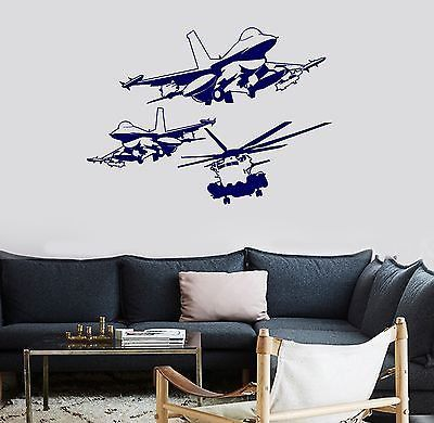 Wall Vinyl Airplane Military Aircraft Guaranteed Quality Decal (z3453)