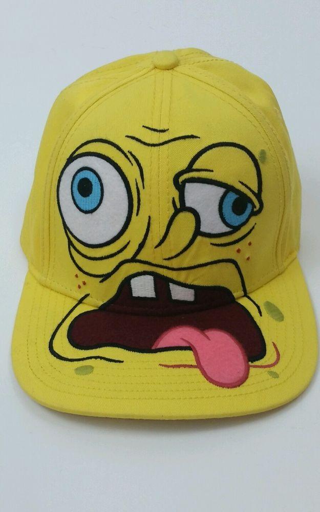 508806d7 Spongebob Squarepants SICK FACED Nickelodeon Adult Snapback Baseball Cap Hat  #Nickelodeon #BaseballCap | DeeMaree Boutique | Baseball cap, Hats, Caps  hats