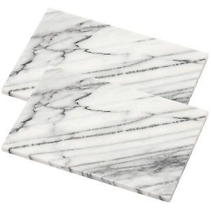 2 X Large Heavy White Kitchen Marble Worktop Saver Dicing Cutting Chopping Board | eBay
