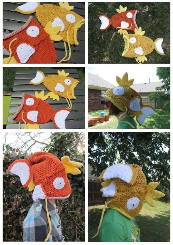 #Magikarp Hats via Reddit user pkbronsonb My idea from years ago finally realized!