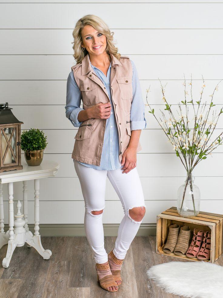 Gemma Utility Vest - Blush