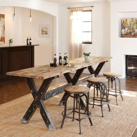 Great for a great room, the Aurora Gathering Table is the ideal hub for friends and family to enjoy a drink, share a story, and to have a good 'ol time. Rugged and beautiful, this table is highly func