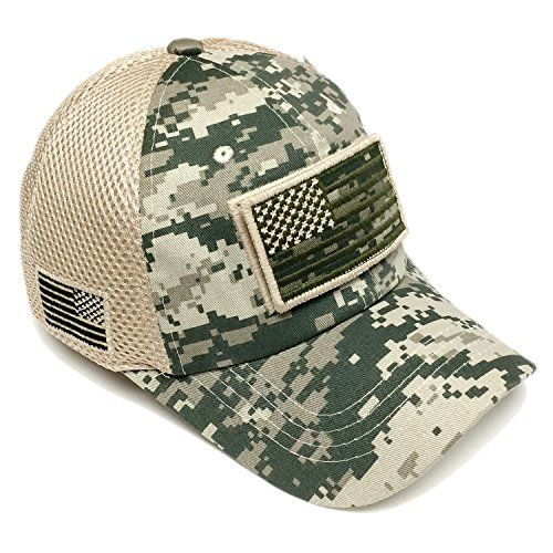 94cf36a389b Pitbull Military Army Desert Green Camo Vintage Cotton Cap USA Flag Patch  Trucker Mesh Baseball Hat Dad Hat Army Gear