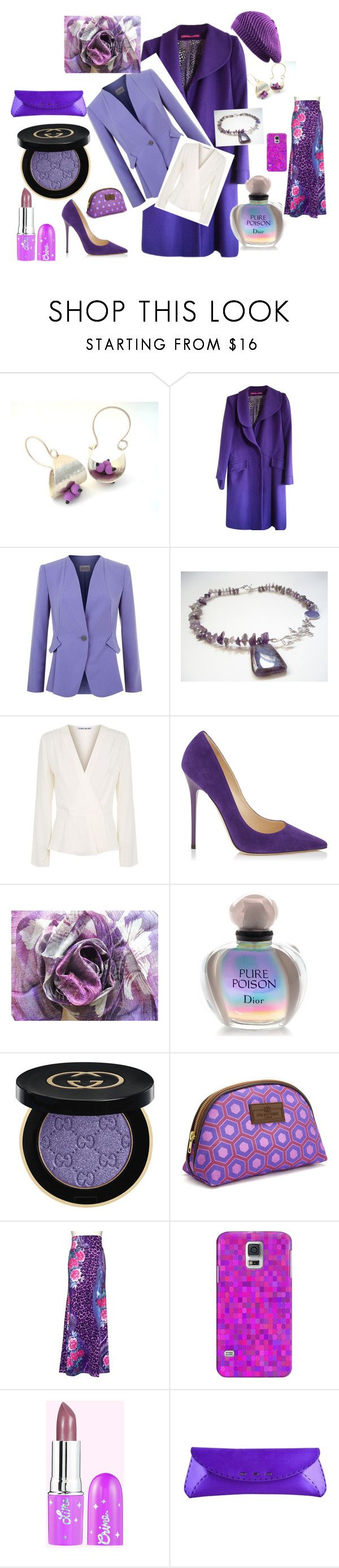 """""""Untitled #25"""" by rosshandmadecrafts on Polyvore featuring Emanuel Ungaro, Armani Collezioni, Elizabeth and James, Jimmy Choo, Christian Dior, Gucci, OTIS BATTERBEE, Casetify and VBH"""