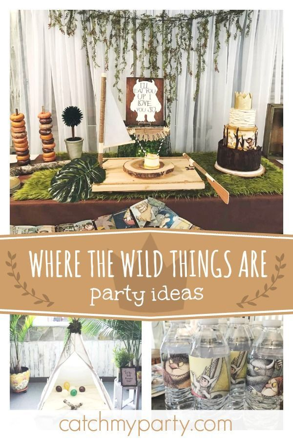 Where The Wild Things Are Birthday Wild Things 1st Birthday Party Catch My Party Boys First Birthday Party Ideas Baby Boy 1st Birthday Party Boys 1st Birthday Party Ideas