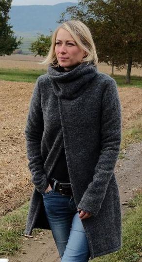 Jacke mit tollem Kragen aus Jersey oder Sweat - Schnittmuster und Nähanleitung via Makerist.de