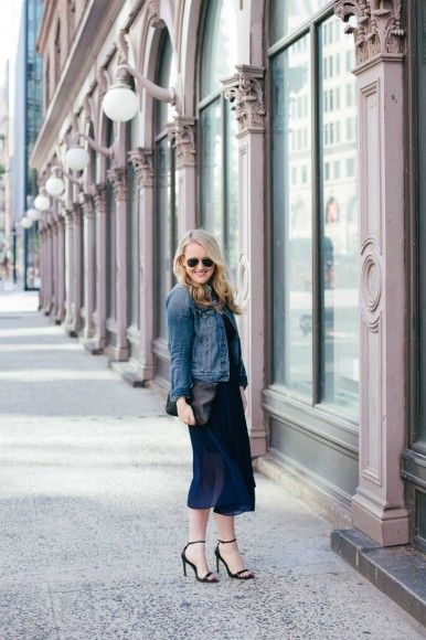 early summer in the city outfit // eyelet + pleats