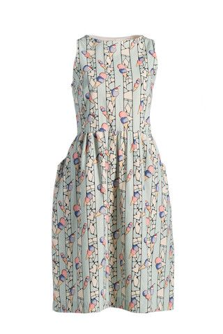 Semi-fit and Flare Dress - Print