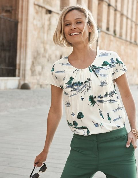 Browse our wide range of tops and T-shirts for women at Boden, from t-shirts  to jersey tops.