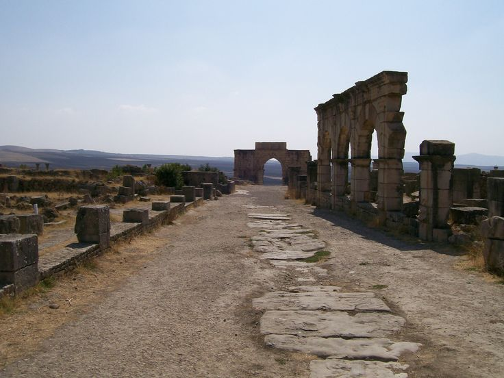 Volubilis, Ancient Mauretania. One of the two major cities in Cleopatra Selene's kingdom.