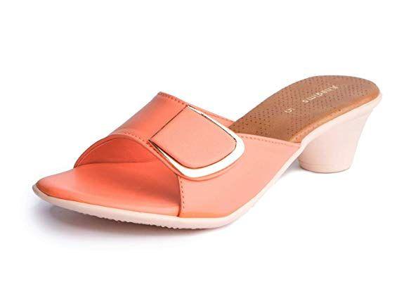 Peach Casual Mule Sandal