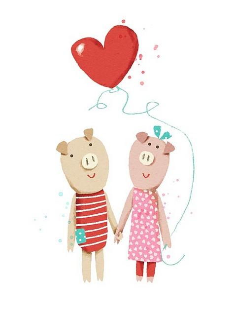 valentine pigs