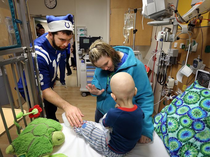 Colts visit Riley Hospital for Children