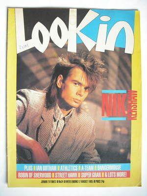 Look In magazine - Nik Kershaw cover (17 August 1985)
