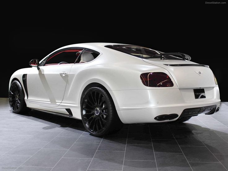 White Bentley Continental Gt W Black Rims Zoom Zoom