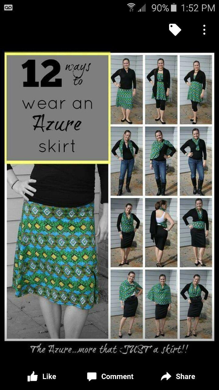 Ways to wear Lularoe Azure skirt