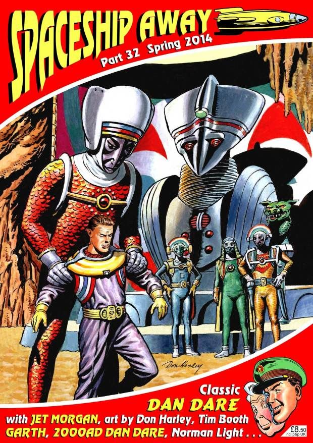 Don Harley provides the cover of the latest issue of the Dan Dare-inspired comic Spaceship Away.