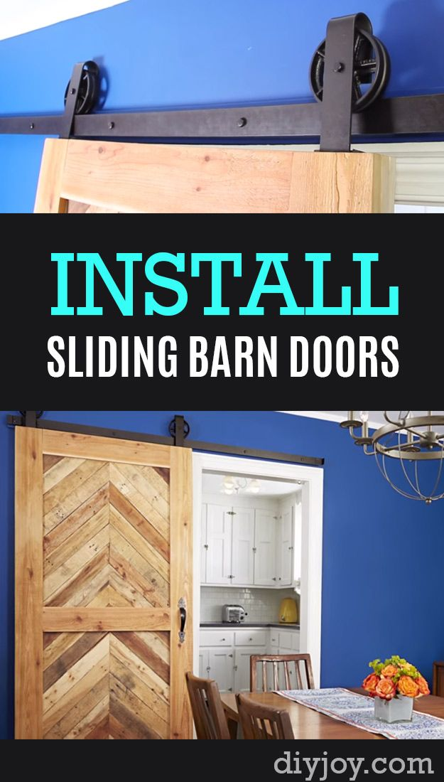 Home Improvement Hacks - How To Install Sliding Barn Doors - Remodeling Ideas on A Budget