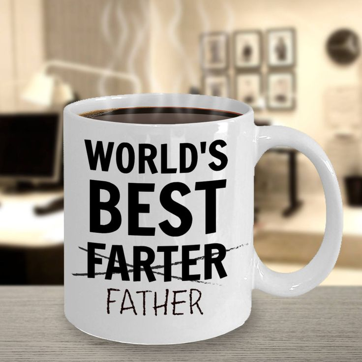 Everybody Has One!  Excited to share the latest addition to my #etsy shop: Best Farter Mug - Best Farter I Mean Father Mug - Quirky Gift For Dad http://etsy.me/2D3SGMq #housewares #white #black #no #ceramic #christmas #funnyfathermug #giftfordad #gaggift