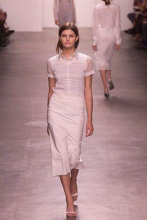 Calvin Klein 2000s Calvin Klein Ivory Silk Clutch qMRKquY
