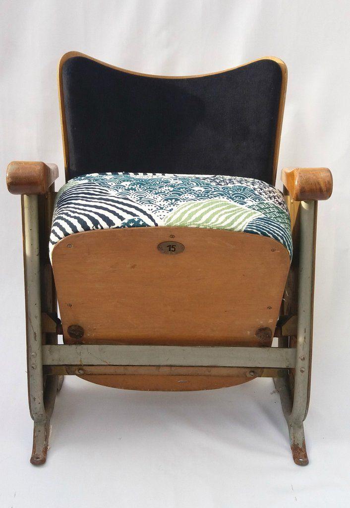 Vintage 1940s theater stoelen (2)