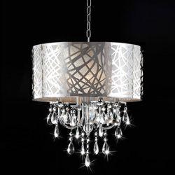 @Overstock http://www.overstock.com/Home-Garden/4-light-Chrome-Crystal-Chandelier/5244435/product.html?CID=214117 $204.99