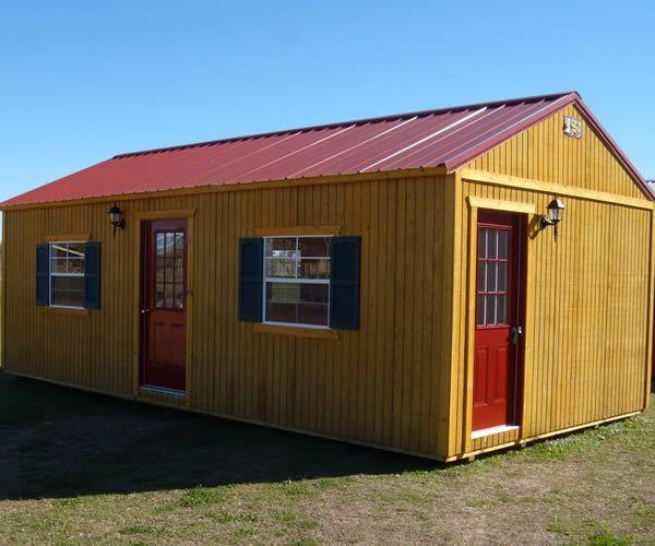 Derksen portable side entry utility storage building for Side storage shed