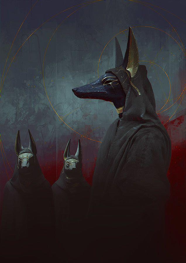 Artie Kallini<Anubis I think. I just got Assassin's Creed Origins!