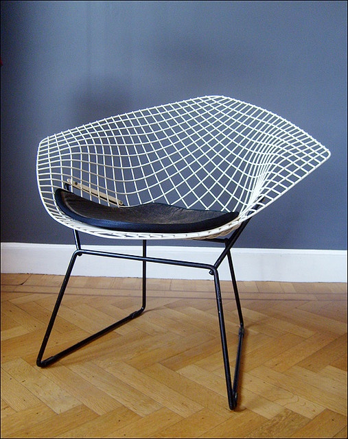 fauteuil diamant harry bertoia knoll 1952 by maxime. Black Bedroom Furniture Sets. Home Design Ideas