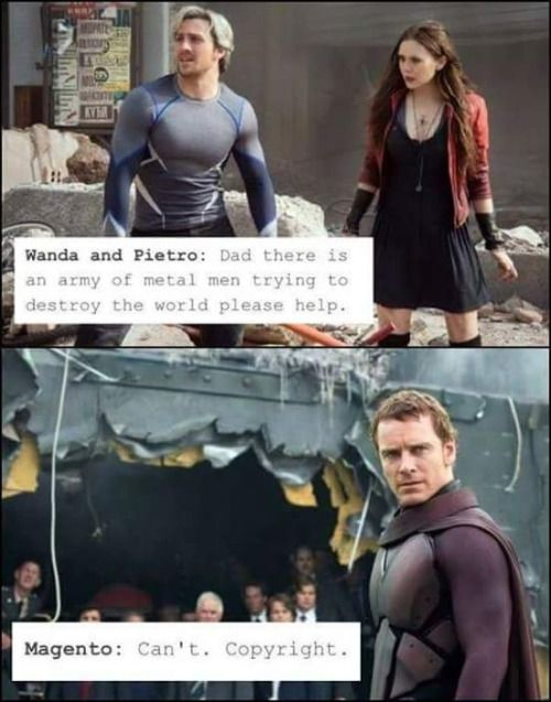 Wanda and Pietro Maximoff (Scarlet Witch and Quicksilver) ask Magneto for a favor.