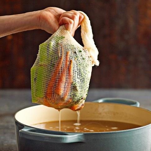 Natural Cotton Soup Soup Sock, Set of 3: Delicate Herbs, Soup Socktm, Williamssonoma, Natural Cotton, Socks, Kitchen, Cotton Soup